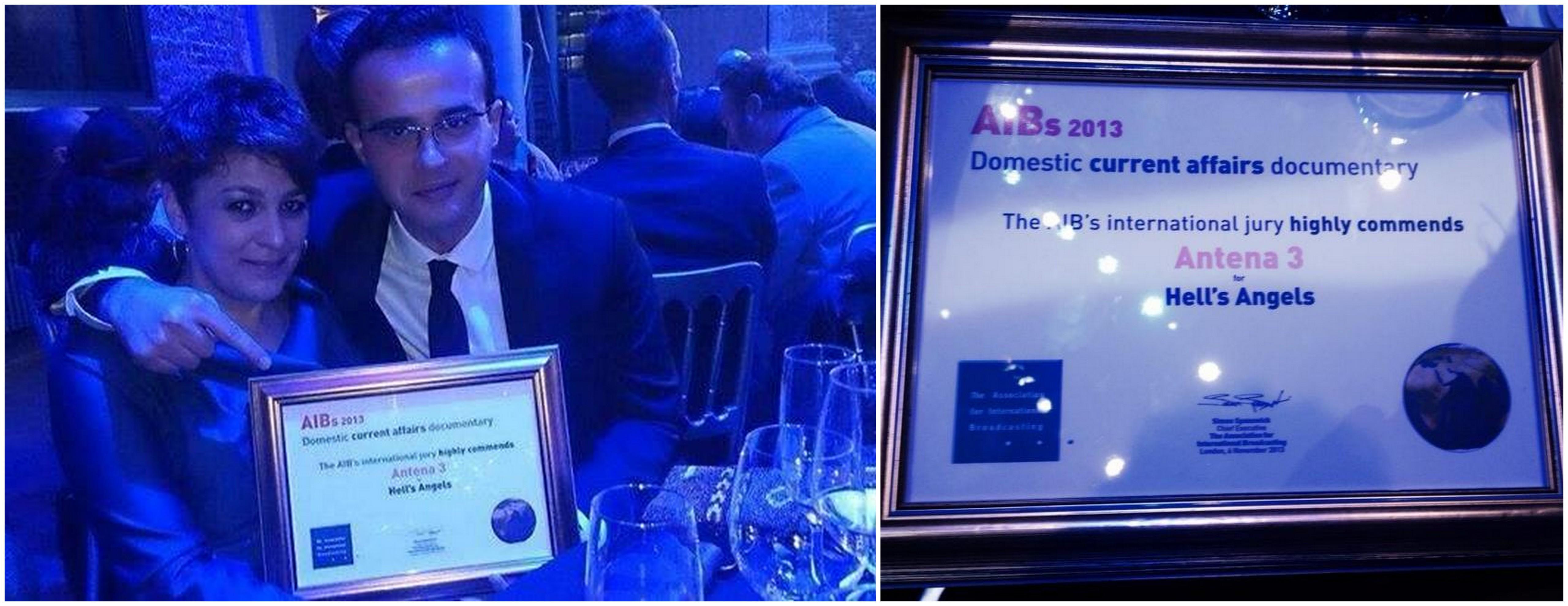 Antena 3 premiata la AIB